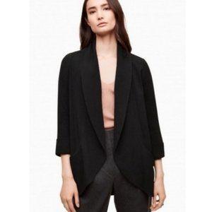 ARITZIA Wilfred Women's Black Chevalier Open Front Jacket Blazer Size 10